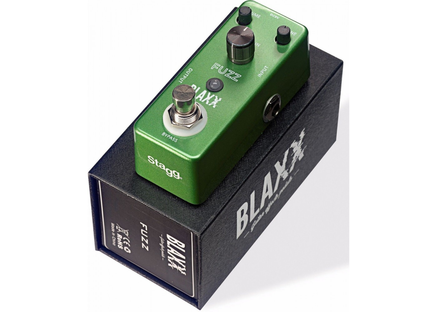 blaxx by stagg model bx fuzz heavy metal electric guitar effect pedal. Black Bedroom Furniture Sets. Home Design Ideas