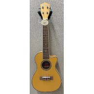 Amahi UK-205 EQ Acoustic Electric Concert Ukulele w/Built-In Tuner - Tan