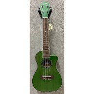 Amahi UK-205 EQ Acoustic Electric Concert Ukulele w/Built-In Tuner - Green