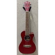 Amahi UK-205 EQ Acoustic Electric Concert Ukulele w/Built-In Tuner - Red