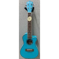 Amahi UK-205 EQ Acoustic Electric Concert Ukulele w/Built-In Tuner - Light