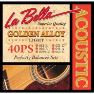 LaBella 40PS Golden Alloy - Light Acoustic Guitar Strings 12-52 balanced se