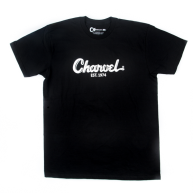 Charvel Guitars Toothpaste Logo Tee T-Shirt in Black -  Medium - #099872760