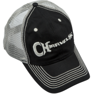Charvel Guitars Trucker hat in Black with White Embroidered Logo - #0998785