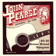John Pearse P250 Bronze Acoustic Guitar Strings, Medium