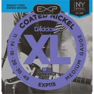 D'Addario EXP115 Coated Electric Guitar Strings, Medium/Blues/Jazz, 11-49