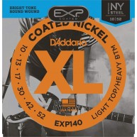 D'Addario EXP140 Coated Electric Guitar Strings, Light Top/Heavy Bottom, 1