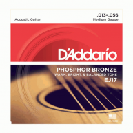 D'Addario EJ17 Phosphor Bronze, Medium 13-56 Acoustic Guitar Strings