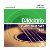 D'Addario EJ18 Phosphor Bronze, Heavey 14-59 Acoustic Guitar Strings