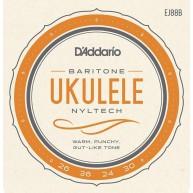 D'Addario EJ88B Nyltech Baritone Ukulele Strings, Gauges .026-.036-.024w-.0