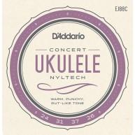 D'Addario EJ88C Nyltech Concert Ukulele Strings, Gauges .024-.031-.037-.026