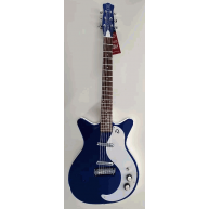 Danelectro 59 Modified NOS+ Vintage Style Electric Guitar in Blue Metal Fla
