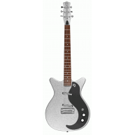 Danelectro 59 Modified NOS+ Vintage Style Electric Guitar in Silver Metal F
