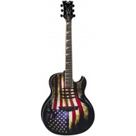 Dean Dave Mustaine MAKO GLORY Acoustic Electric Torn American Flag Guitar