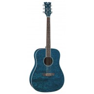 Dean AXS Dread Quilt Acoustic Guitar Transparent Blue Dreadnought AX DQA TB