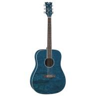 Dean AXS Dread Quilt Acoustic Guitar Transparent Blue Dreadnought AX DQA TB