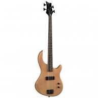 Dean Edge E09 4-String Electric Bass Guitar with Active EQ in Satin Natural