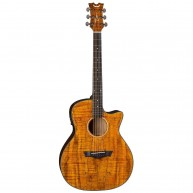 Dean Model AX E SPALT Acoustic Electric Cutaway Exotic Spalted Guitar
