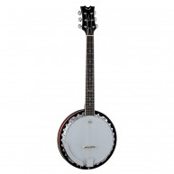 Dean Backwoods Model BW6 6-String Guitar Banjo Banjitar with Mahogany Reson