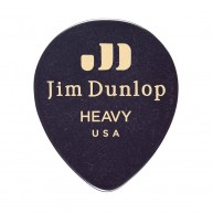 Bag of 72 Dunlop 485R03HV Heavy Black Genuine Celluloid Tear Drop Guitar Pi