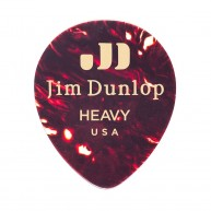 Bag of 72 Dunlop 485R05HV Heavy Shell Genuine Celluloid Tear Drop Guitar Pi