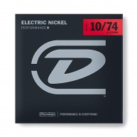 Dunlop DEN1074 Nickel Wound Electric Guitar Strings, Medium, .010–.074, 8 S