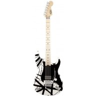EVH Striped Series White with Black Stripes Electric Guitar - Floyd Rose -