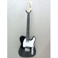 Effin Guitars Model Smelly/BK T-Style Gloss Black Finish Deluxe Electric Gu