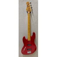 Effin EJB/MRD/LH Met. Red Left Handed Jazz Style 4-String Electric Bass Gui