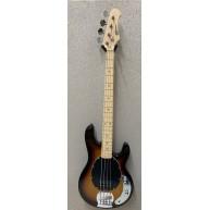 Effin Guitars model EBI/SB Ball Look Sunburst Finish Ernie Style Bass Guita