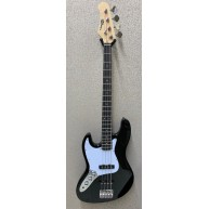 Effin EJB/BK/LH Black Left Handed Jazz Style 4-String Electric Bass Guitar