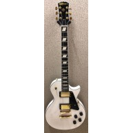 Effin Guitars LessKustom/WH Deluxe White Gloss Custom Electric LP Guitar