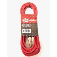 "Effin Guitars  FNG20CRD Red 20 Foot 1/4"" Jack Professional Instrument Cable"