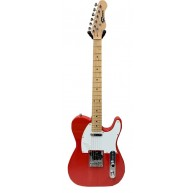 Effin Guitars Smelly/TR-M T-Style Trans Red Maple Board Deluxe Electric Gui