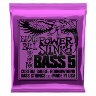 Ernie Ball #2821 Power Slinky Roundwound Bass 5-String Custom Gauge .050-.1