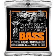 Ernie Ball 3833 Coated Electric Hybrid Slinky Bass Strings Set (.045-.105)