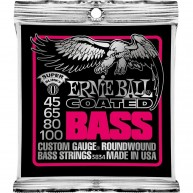 Ernie Ball 3834 Coated Electric Super Slinky Bass Strings Set (.045-.100)