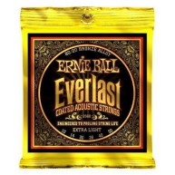 Ernie Ball 2560 Everlast Extra Light Coated 80/20 Bronze Acoustic Guitar St