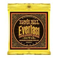 Ernie Ball #2554EB Everlast Coated 80/20 Bronze Acoustic Guitar Strings .01