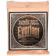 Ernie Ball #2556EB Everlast Coated 80/20 Bronze Acoustic Guitar Strings .01
