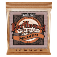 Ernie Ball #2144 Earthwood Medium Phos Bronze Acoustic Guitar Strings .013-