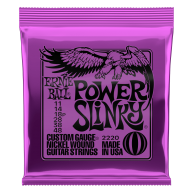Ernie Ball #2220 Power Slinky Electric Guitar Strings Custom Gauge .011-.04