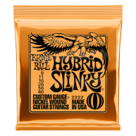 Ernie Ball #2222 Hybrid Slinky Electric Guitar Strings Custom Gauge .009-.0