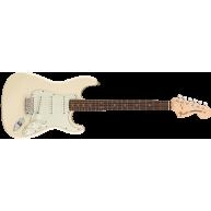 Fender Albert Hammond JR Stratocaster Electric Guitar, Olympic White, w/Gig