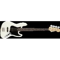 Fender American Performer Jazz Bass Guitar w/Bag, Artic White Finish - SAMP