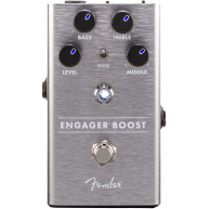 Genuine Fender Engager Boost Pedal , Solid Aluminum Stomp Box #0234542000