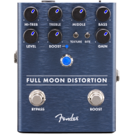 Genuine Fender Full Moon Distortion Pedal , Solid Aluminum Stomp Box #02345