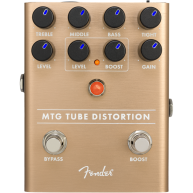 Genuine FENDER MTG Tube Distortion Pedal , Solid Aluminum Stomp Box #023453