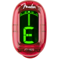 Fender California Series Clip-On Chromatic Instrument Tuner, Candy Apple Re