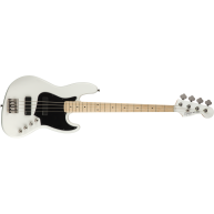 Fender Squier Contemporary Active HH 4-String Jazz Bass, Flat White, Maple